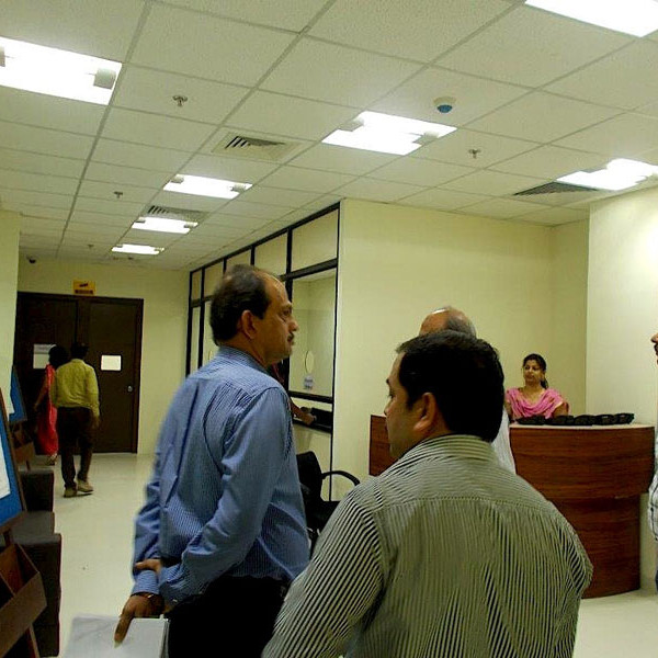 Mr. Umesh Magar at the new PMS office at Destination Center